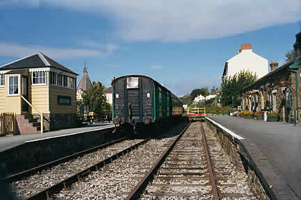Pulling in to Bideford Station! - The Tarka Line