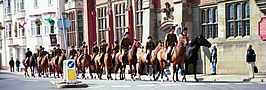 Kings Troop visit Bideford 2002