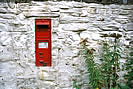 Hole in the Wall! or Post box outside Emily's Cottage