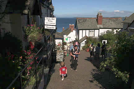 Stepping by Donkey Shoe Cottage, The Post Office & Kinglsey Museum, Clovelly