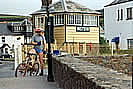 Tarka Trail  - Instow signal box is one of the smalled listed buildings