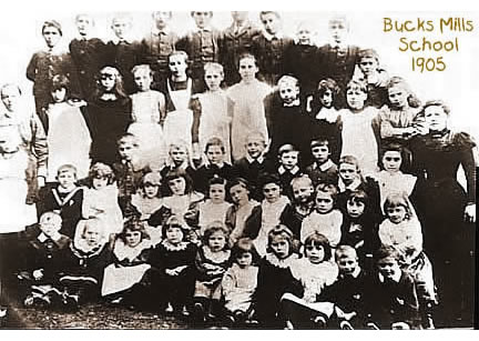 Bucks Mills School 1905 - School Mistress Florence Braund born 1877