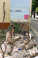 Driftwood artwork created by local Appledore resident Linda Bell
