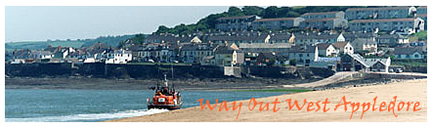 Photo of Appledore Lifeboat heading back to port copyright Pat Adams