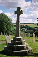 Alwington War Memorial overlooking the Yeo Valley photo copyright Pat Adams