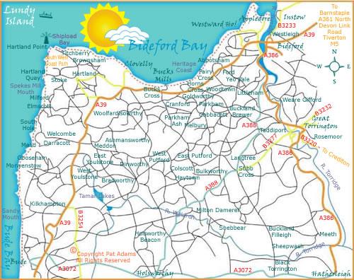 north devon area maps and pub guide