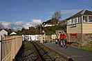 Tarka Trail cycling by Instow Signal Box photo copyright Pat Adams